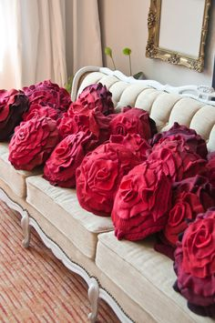 Ruffle Rose Pillows