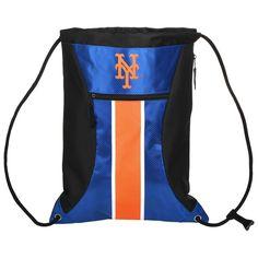New York Mets Big Stripe Zippered Drawstring Backpack