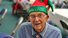 """Hector Scholl, 85, still gets excited about Christmas. """"It's about family"""" he says. (Image: Peter Gunders/ABC)"""