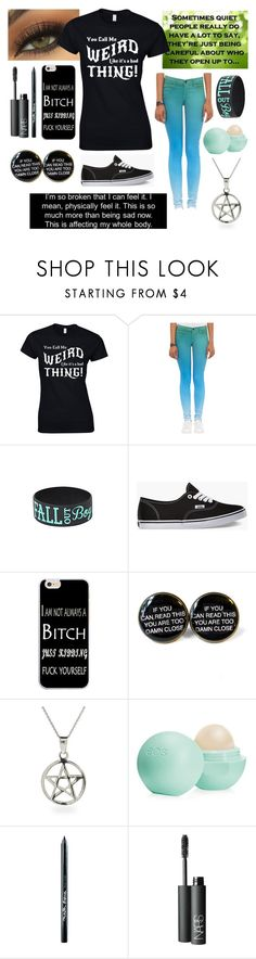 """""""Me Most Days"""" by ubiquitous-merkaba ❤ liked on Polyvore featuring J Brand, Vans, Eos, Maybelline and NARS Cosmetics"""
