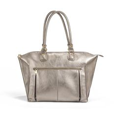 This is one hot metallic diaper bag.