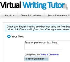 Students write/paste assignments in the text box area and have their grammar and spelling examined for errors.  As well use the Random Errors tab for an error spotting activity.