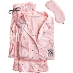 Victoria's Secret The Sleepover Knit Pajama ($55) ❤ liked on Polyvore featuring intimates, sleepwear, pajamas, pijama, victoria secret sleepwear, victoria secret pjs, knit sleepwear, victoria secret pajamas and petite sleepwear