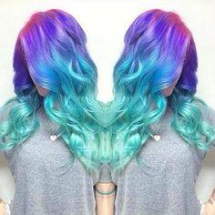Mermaid hair - Hair Pop   Hair Extensions - www.HairPop.net