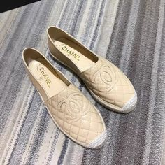 Chanel woman shoes new leather espadrilles