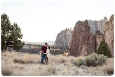 Oregon Engagement Session with PItbull at Smith Rock State Park.   http://www.raynamcginnisphotography.com/smith-rock-couples-session-oregon-wedding-photography/  Central Oregon Wedding Photography, Anniversary Photo Session, Oregon Wedding Photographer, Smith Rock Photography