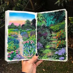 Tara Jane Crandon is a self-taught artist and psychologist from Brisbane, Australia who creates mesmerizing illustrations inspired by nature. Aesthetic Painting, Aesthetic Art, Inspiration Art, Art Inspo, Sketchbook Inspiration, Sketchbook Ideas, Pretty Art, Cute Art, Art Sketches