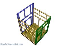 5x5 Deer Blind Plans | HowToSpecialist - How to Build, Step by Step DIY Plans Deer Hunting Tips, Deer Hunting Blinds, Coyote Hunting, Archery Hunting, Pheasant Hunting, Deer Shooting, Deer Blind Plans, Tree Stand Hunting, Shed Frame