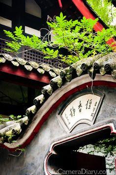 A view of the older part Jinli.    Photo is taken in Jinli. Jinli is a popular tourist attraction in Chengdu, Sichuan, China.    Story: http://www.mycameradiary.com/chengdu-travel-diary-jinli-06/