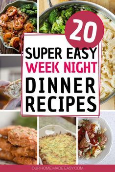 Easy Week Night Dinners for Busy Families! Easy & Simple dinner recipes for your family and for a busy mom! See them Easy & Simple dinner recipes for your family and for a busy mom! Easy Pork Chop Recipes, Easy Chicken Dinner Recipes, Healthy Dinner Recipes, Dessert Recipes, Easy Family Dinners, Easy Weeknight Dinners, Easy Meals, Crockpot, Night Dinner Recipes