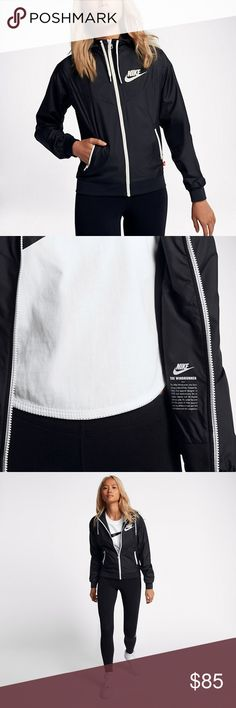 Nike Sportswear Windrunner *BENEFITS* Weather-resistant fabric helps protect you from the elements Adjustable hood zips up to your chin for warmth Raglan sleeves allow you to move naturally Mesh lining for enhanced breathability Rib cuffs and hem offer a secure fit  *PRODUCT DETAILS* Side zip pockets Fabric: 100% polyester Machine wash Imported Nike Jackets & Coats