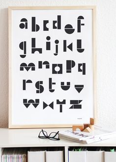 Very simple but so nice Snug ABC poster