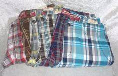 Arizona boys shorts chino cotton plaid kids size 8H, 14H, 18, 20H, 20 NEW 14.99 free us shipping http://www.ebay.com/itm/-/262133115046?