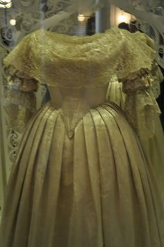 Queen Victoria's wedding dress. I saw this dress in 2008 at the V and A.
