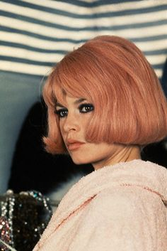 Bardot...I love this peach hair color!