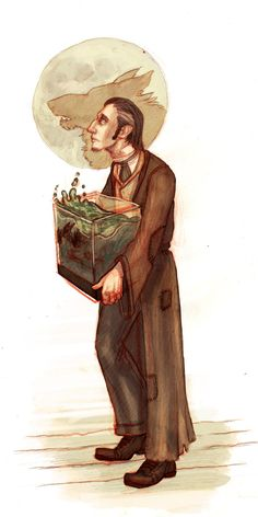 Professor R.J. Lupin by Matthew Spencer <---- Interesting portrayal, though I think he has slightly lighter colored hair. But I love it !