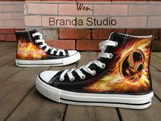 Hunger Game Shoes Studio Hand Painted Shoes 52.99 Usd,Hand Paint On Custom Converse Shoes Only 90Usd,Buy One Get One Phone Case Free