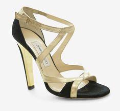 Jimmy Choo Gold And Black Sandal