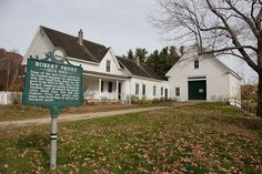robert frost's home in derry, new hampshire, I drive by this often(: would love to own it myself.