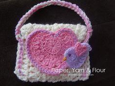 Ravelry: Little Birdie Love Crochet Purse pattern by BellaMia Crochet