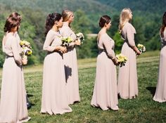Long bridesmaid dresses can look so elegant