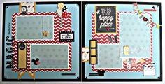 Premade Scrapbook Pages Magic Memories Disney Vacation Mickey Say Cheese | eBay