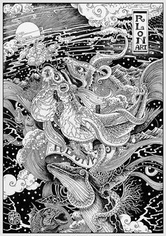 Impetuous world life NO4 by Rlon Wang, via Behance