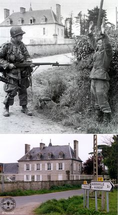 Normandy 1944 Photographs - Then and Now — Yandex. History Timeline, History Photos, History Facts, Ww2 Photos, D Day Photos, Then And Now Pictures, D Day Normandy, D Day Landings, Germany Ww2