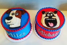 are these not hilarious or what?! The secret life of pets cakes! #hayleycakesandcookies #decoratormichelle #atxcakes #atxbakery #cake #bestcakeever #buttercream #buttercreamcake #buttercreamcakes #pets #dogs #dogsofinstagram #yum