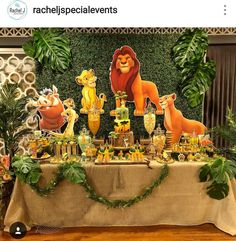 Lion king Theme Birthday Party Dessert Table and Decor