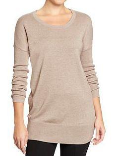 Women's Scoop-Neck Sweater Tunics | Old Navy