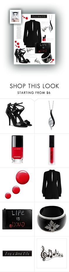 """""""Girls Night Out"""" by valerie-42 ❤ liked on Polyvore featuring Sirena, Chanel, Topshop, Zimmermann, Gucci, Miriam Salat and 3R Studios"""