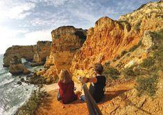 Najpiękniejsze atrakcje Algarve: Praia da Marinha   Mama said be cool - blog podróżniczy Algarve, Monument Valley, Grand Canyon, Nature, Blog, Travel, Navy, Voyage, Blogging