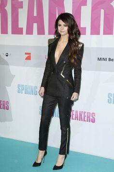 "Selena Gomez in sexy menswear at the ""Spring Breakers"" Germany Premiere."