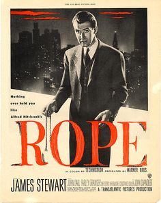 Rope (1948) - IMDb  Directed by Alfred Hitchcock. With James Stewart, John Dall, Farley Granger, Dick Hogan