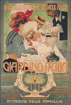 1902 Summer Inauguration,  Liguria vintage poster