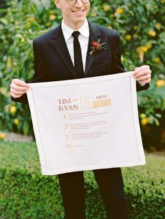 Wedding menu: http://www.stylemepretty.com/2014/10/17/elegant-estate-wedding-inspiration-part-2/ | Photography: Marissa Holmes - http://marisaholmesblog.com/