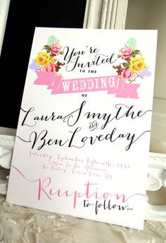 RUSTIC WEDDING INVITATION Suite Unique Custom by SweetPeaSunday, $5.00