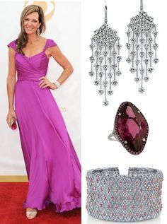 #AllisonJanney in #MartinKatzJewels at the #EmmyAwards #jewelry #finejewelry #earrings #bracelet #ring #diamonds #luxury #MartinKatz #redcarpet #celebstyle