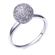 Europe style Ball Ring w/ AAA CZ women Rings high quality rings for party free shipment size 6, 7, 8, 9, 10