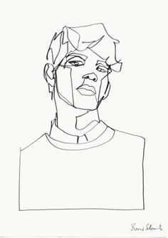 """borisschmitz:  """"Drawing (1)"""", gif of a continuous line drawing, 2015 Click »HERE« for my portfolio!"""