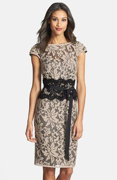 Tadashi Shoji Embroidered Lace Sheath Dress | Nordstrom