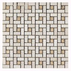 Diana Beige 12 in. x 12 in. Natural Stone Mosaic Floor & Wall at The Home Depot Bath Tiles, Mosaic Tiles, Stone Mosaic, Stone Tiles, Bathtub Surround, Natural Stone Flooring, Bath Remodel, Bathroom Flooring, Natural Stones