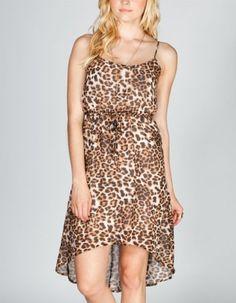 Amazon.com: ALI & KRIS Cheetah Print Chiffon Hi Low Dress: Clothing