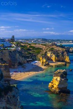 Portugal, Algarve, Lagos, Dona Ana Beach (Praia Dona Ana)