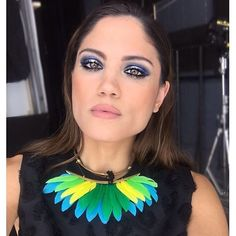 Gorgeous wearing the ishtar feathers collar from s/s 2016 collection 😍 - katerinapsoma Make Up, Instagram Posts, Feathers, Face, Unique, How To Wear, Paint, Collection, Jewelry