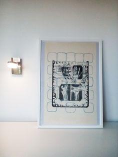 original print / lithography / linoprint decor / black and white / original print / wall decor art / abstract print - 'Anatomy'