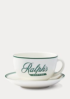 Ralph's Coffee Cup & Saucer Coffee Cups, Tea Cups, Ralph Lauren France, Cup And Saucer, Stoneware, Breakfast, Tableware, Touch, Products