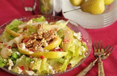 Pear, Pomegranate and Candied Walnut Salad