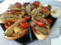 Pirított laskagomba/pirítóssal és sült paradicsommal | Mediterrán ételek és egyéb finomságok...